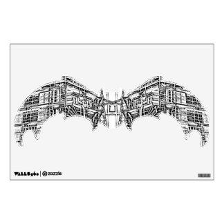 B&W BAT WALL DECAL