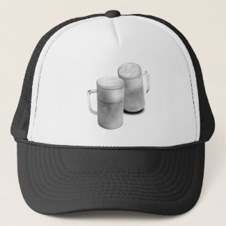 B/W Beer Mugs Trucker Hat