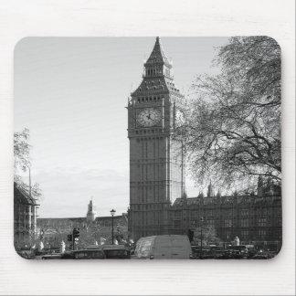 B W Big Ben Londres Mousepad Tapetes De Ratones