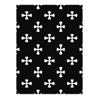 B&W (black and white) ~ 6.5x8.75 Paper Invitation Card