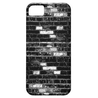 B&W Brick Wall (distressed) iPhone Case