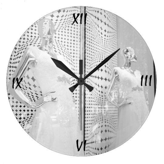 B&W Bride Large Clock