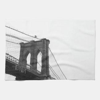 B&W Brooklyn Bridge Hand Towel