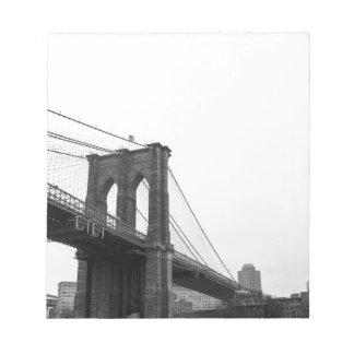 B&W Brooklyn Bridge Note Pad