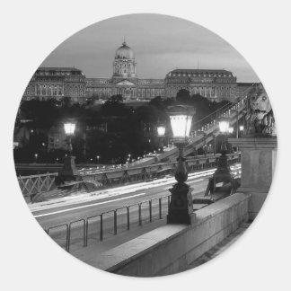 B&W Budapest Classic Round Sticker
