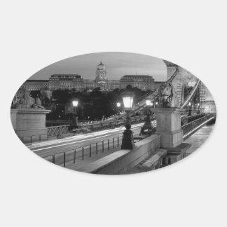 B&W Budapest Oval Sticker