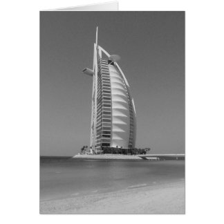 B&W Burj Al Arab Greeting Card
