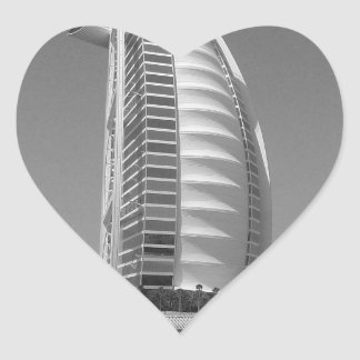 B&W Burj Al Arab Heart Sticker