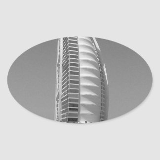 B&W Burj Al Arab Oval Sticker