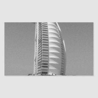 B&W Burj Al Arab Rectangular Sticker