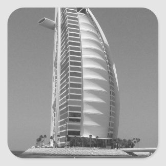 B&W Burj Al Arab Square Sticker