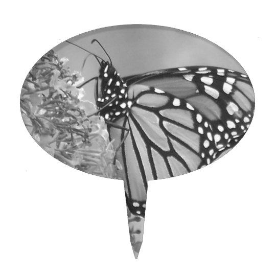 B&W Butterfly Cake Topper