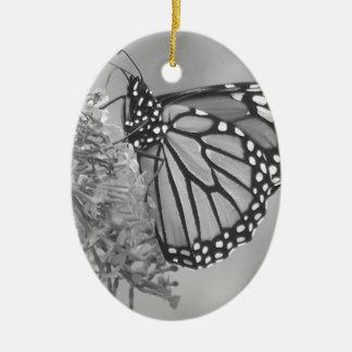 B&W Butterfly Ceramic Ornament