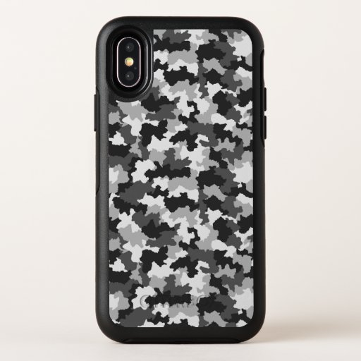 B&W Camouflage OtterBox Symmetry iPhone XS Case