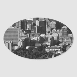 B&W Cape Town Oval Sticker