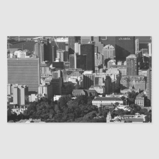 B&W Cape Town Rectangular Sticker