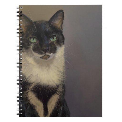 B&W Cat Notebook