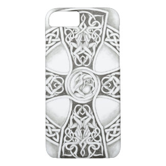 B&W Celtic Cross iPhone 7 Case