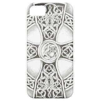 B&W Celtic Cross Iphone Five Case