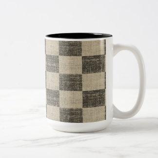 B&W Checkered Mug