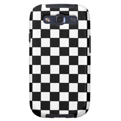 B&W Checkered Samsung Galaxy S3 Vibe Case Galaxy S3 Covers