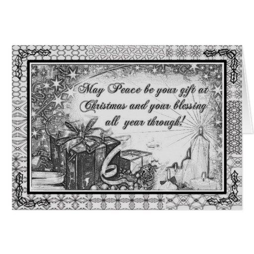 B&W Christmas Greeting Card