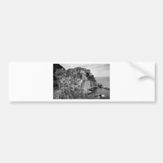 B&W Cinque Terre Bumper Sticker