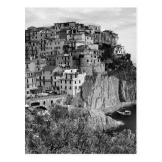 B&W Cinque Terre Postcard
