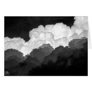 B&W clouds Card