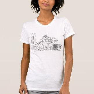B/W Color me Las Vegas Ladies Casual Scoop Tshirt