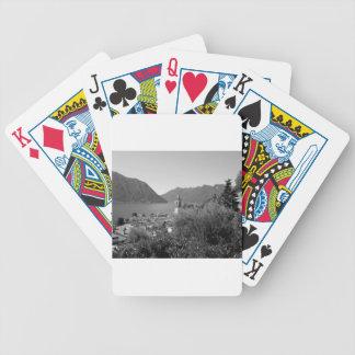 B&W Como Lake Bicycle Playing Cards