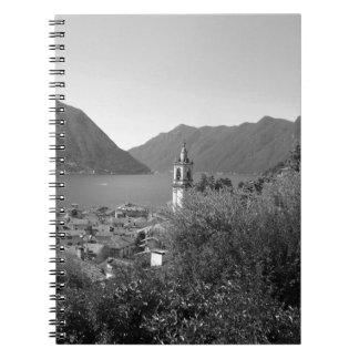 B&W Como Lake Notebook