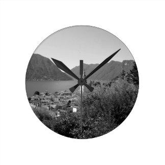 B&W Como Lake Round Clock