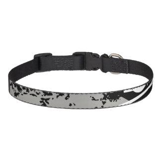 B&W Crushed Sidewalk Dog Collar