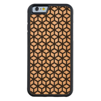 B W Cube Pattern Cherry iPhone 6 Bumper Case Carved® Cherry iPhone 6 Bumper
