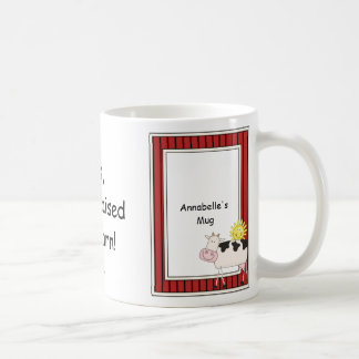 B & W Dairy Cow - Farmyard Barnyard Friend - Kids Coffee Mug