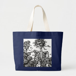 B&W Day Of The Dead Tote Bag