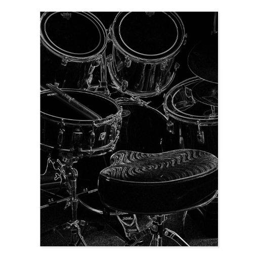 B/W Drumset 1 Postal