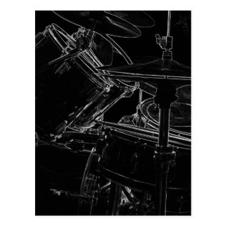 B/W Drumset 2 Postcard