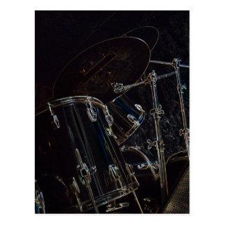 B/W Drumset 5 Tarjetas Postales