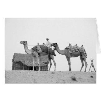 B&W Dubai desert Card