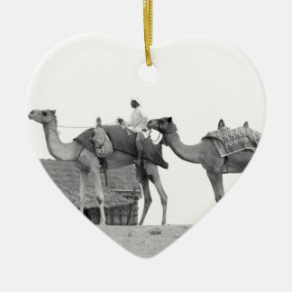 B&W Dubai desert Ceramic Ornament