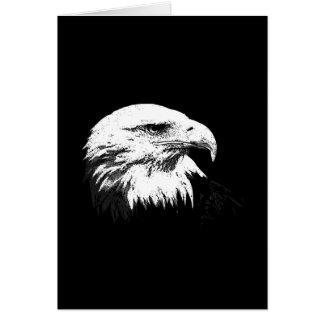 B&W Eagle calvo americano Tarjeta De Felicitación