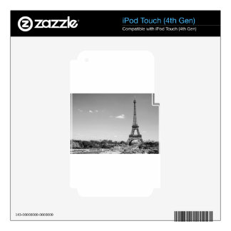 B&W Eiffel Tower Decal For iPod Touch 4G