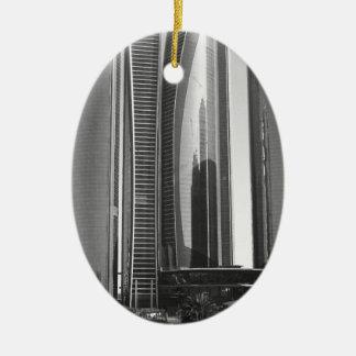 B&W Etihad Towers Ceramic Ornament