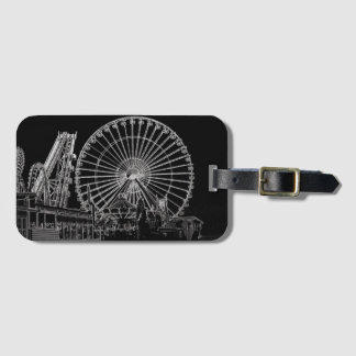 B/W Ferris Wheel Bag Tag