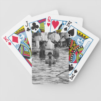 B&W Ganges River 2 Bicycle Playing Cards