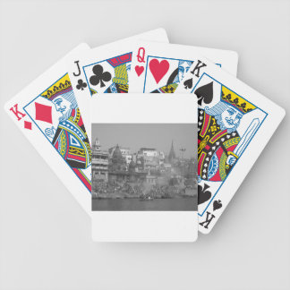 B&W Ganges River Bicycle Playing Cards