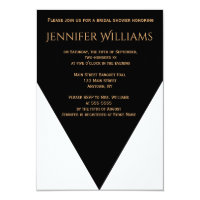 B&W Geometric Modern bridal shower invitations