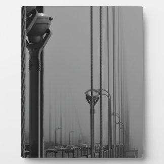 B&W Golden Gate Bridge 2 Plaque